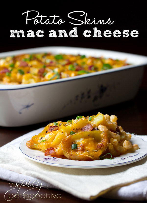 Mac and Cheese Potato Skins | 25+ Potato Skin Recipes