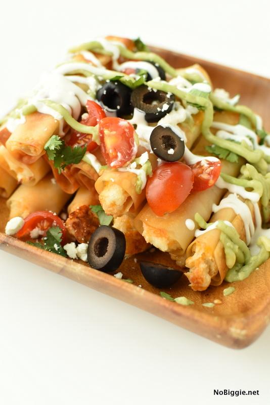 Mini Baked Chicken Taquitos | NoBiggie.net