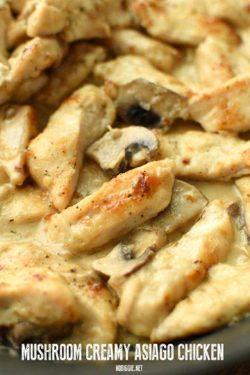 Mushroom Creamy Asiago Chicken