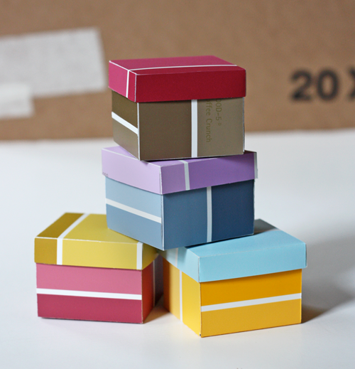Paint Chip Gift Boxes | 25+ Creative Gift Wrap Ideas