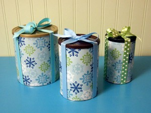 Reusable Canister Gift Wrap | 25+ Creative Gift Wrap Ideas