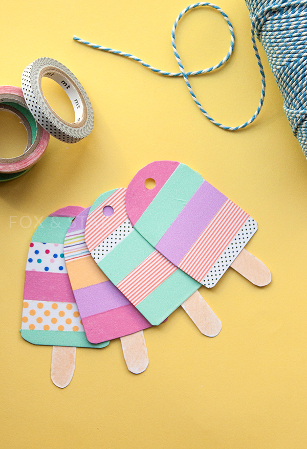 Washi Tape Ice lolly Tags | 25+ Creative Gift Wrap Ideas