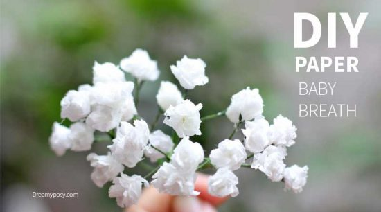 Baby Breath Paper Flower | 25+ MORE Paper Flowers