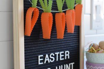 DIY Easter Egg Hunt Banner