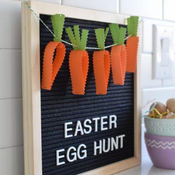 DIY Easter Egg Hunt paper banner   NoBiggie.net