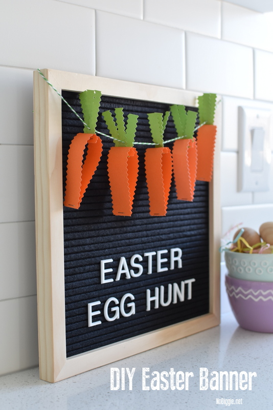 DIY Easter Egg Hunt paper banner | NoBiggie.net