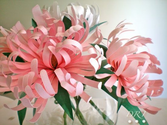 Paper Chrysanthemums | 25+ MORE Paper Flowers
