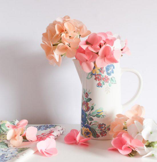 Paper Hydranga | 25+ MORE Paper Flowers