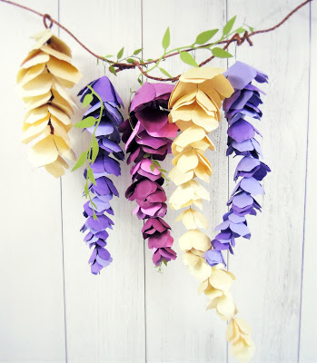 Paper Wisteria   25+ MORE Paper Flowers
