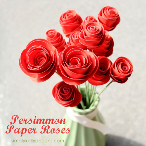 Persimmon Paper Roses | 25+ MORE Paper Flowers
