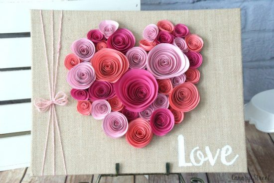 Spiral Paper Flower Heart | 25+ MORE Paper Flowers