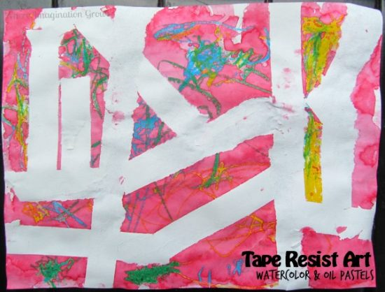 Tape Resist Art | 25+ Boredom Busters