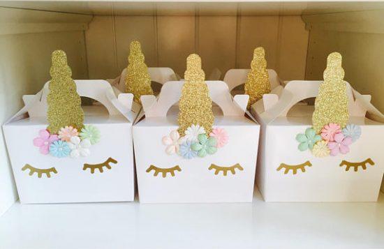 Unicorn Party Favor Boxes | 25+ Unicorn Party Ideas
