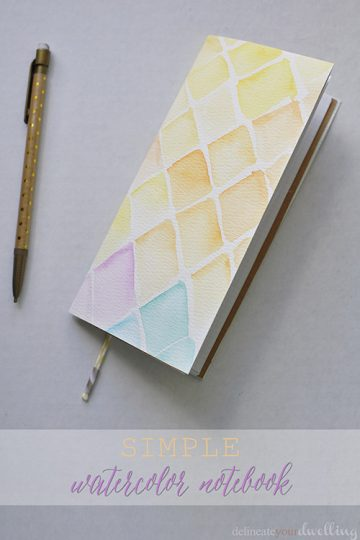 Make a Simple Watercolor Notebook