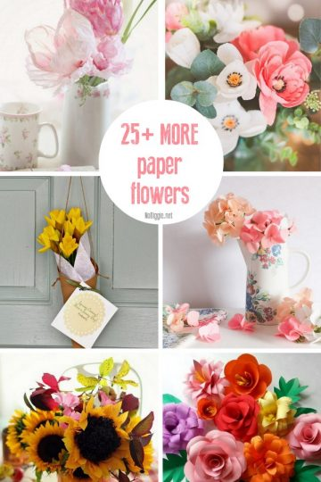 25+ MORE Paper Flowers