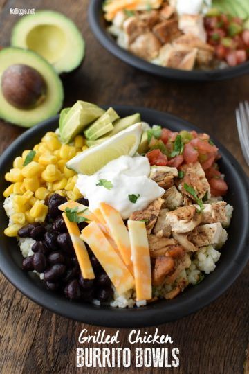 Grilled Chicken Burrito Bowls