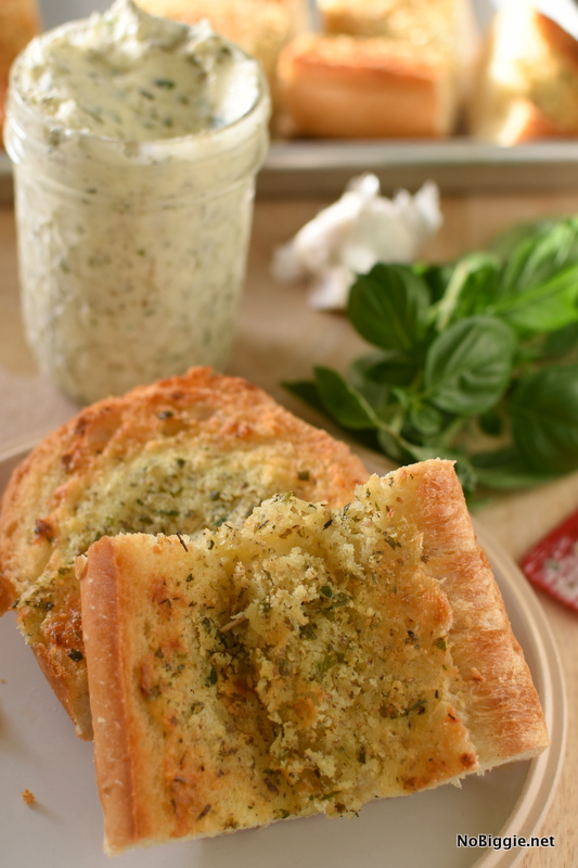 homemade garlic butter for bread