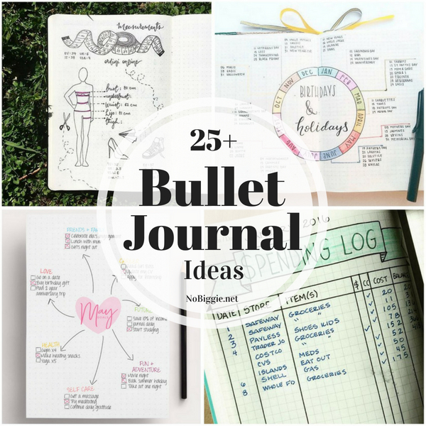 25+ Bullet Journal Ideas | NoBiggie.net