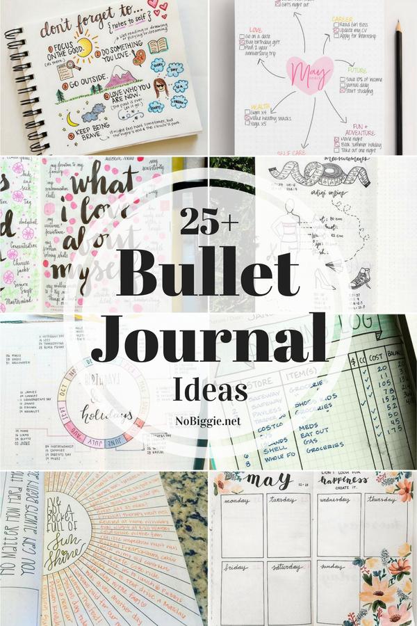 25+ Bullet Journal Ideas | NoBiggie.net