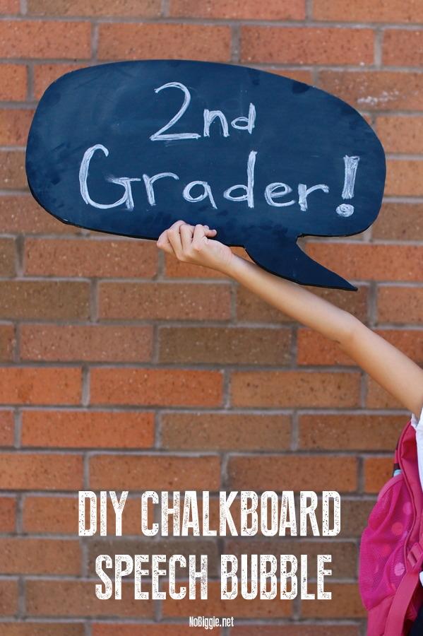 DIY Chalkboard SpeechBubble
