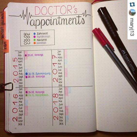 Doctor | 25+ Bullet Journal Ideas