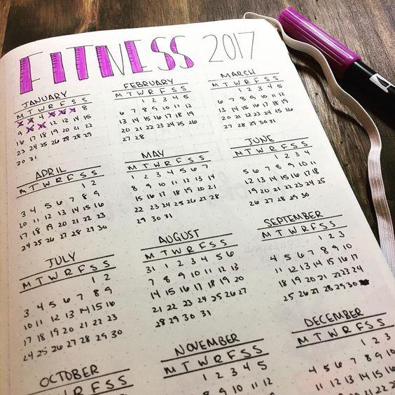 Fitness tracker | 25+ Bullet Journal Ideas