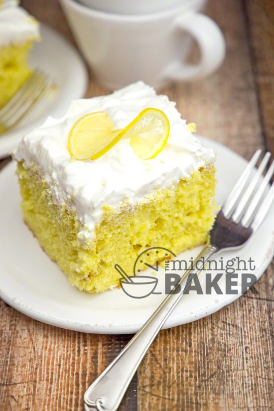 Lemonade Cream Poke Cake | 25+ Lemonade Stand Ideas