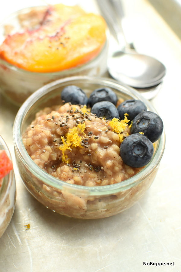 lemon blueberry steel cut oats