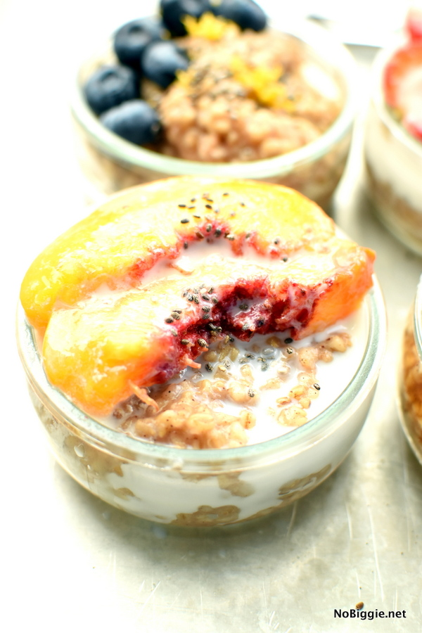 peaches and cream steel cut oats