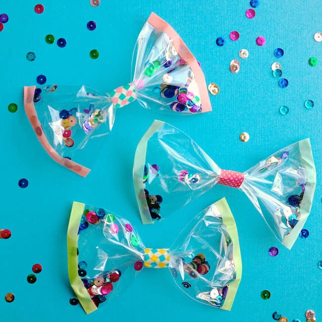Confetti Bows | 25+ Confetti Party Ideas