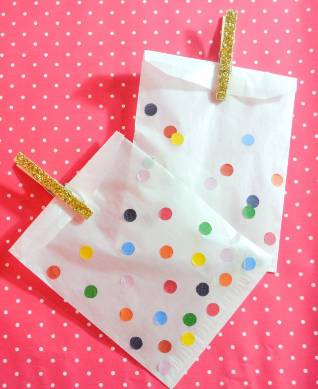 Confetti Favor Bags | 25+ Confetti Party Ideas