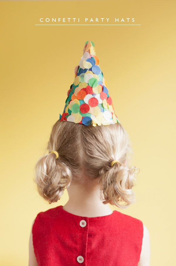 Confetti Party Hats | 25+ Confetti Party Ideas