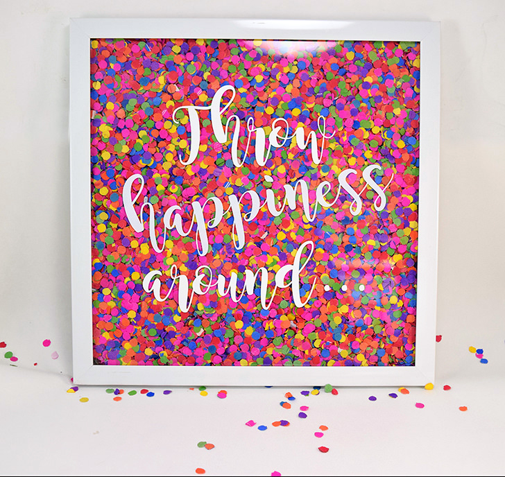 Confetti Wall Art | 25+ Confetti Party Ideas
