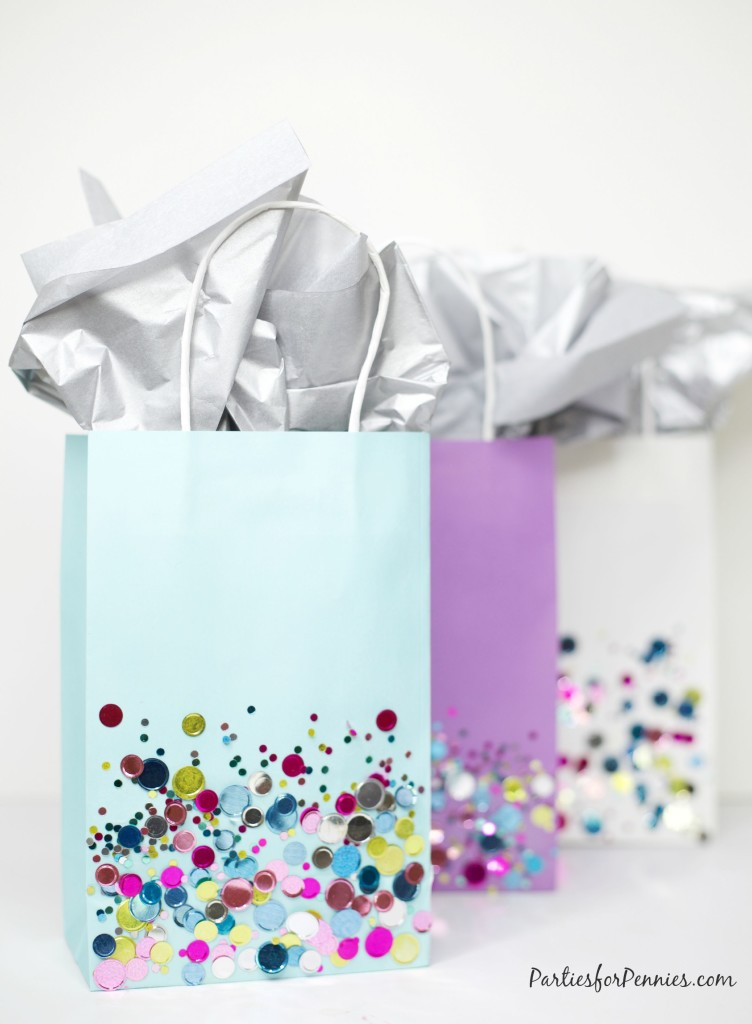 DIY Confetti Gift Bags | 25+ Confetti Party Ideas