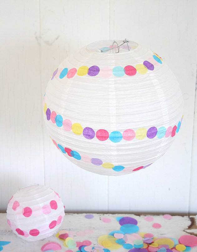 DIY Confetti Paper Lantern | 25+ Confetti Party Ideas