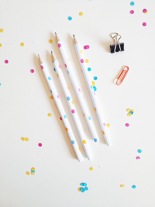 DIY Confetti Pencils | 25+ Confetti Party Ideas