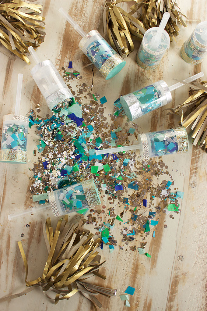 DIY Confetti Poppers | 25+ Confetti Party Ideas