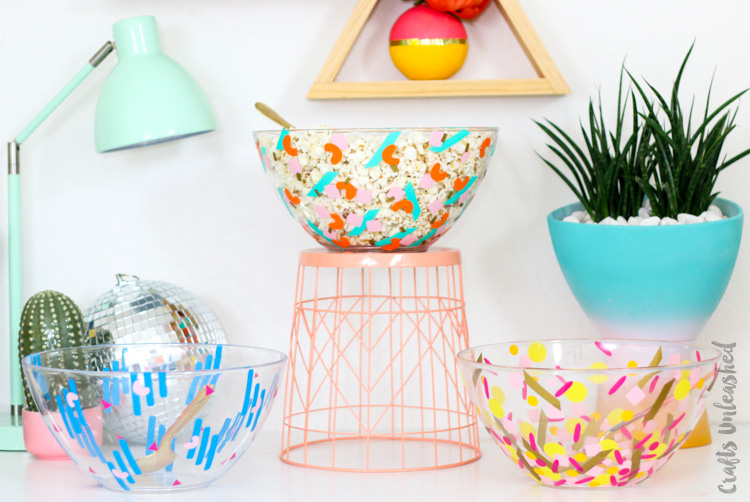 DIY Confetti Serving Bowls | 25+ Confetti Party Ideas