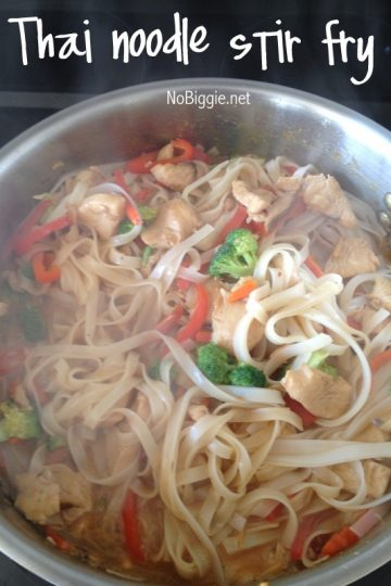 Thai Chicken Noodle Stir Fry