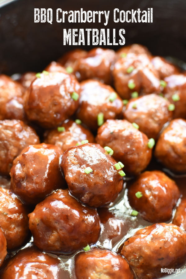 bbq cranberry slow cooker meatballs