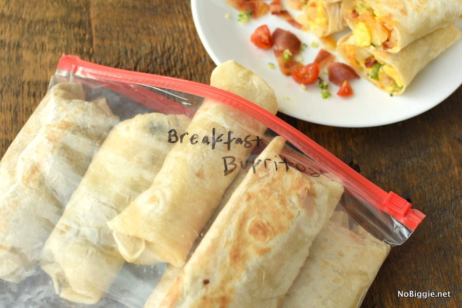 freeze breakfast burritos