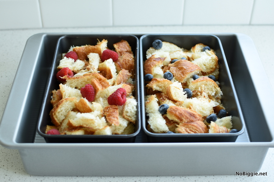 Croissant Bread Pudding ready to bake
