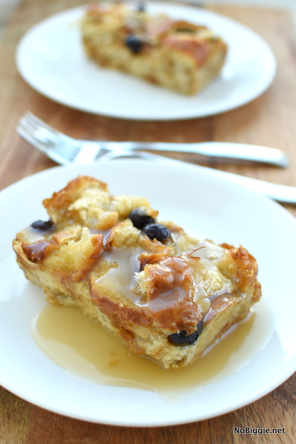 Croissant Bread Pudding with buttermilk syrup