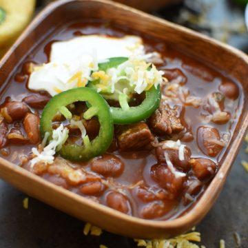 Instant Pot Chipotle Steak Chili