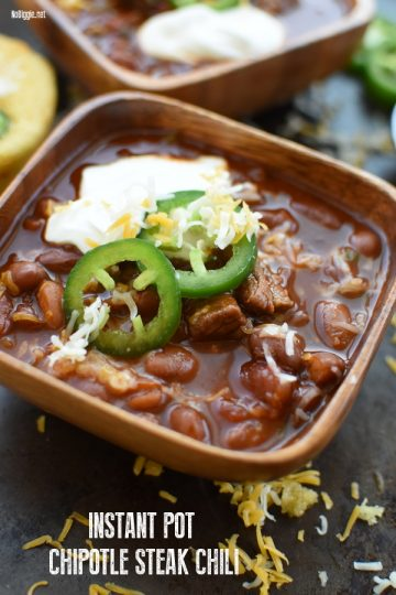 Instant Pot Chipotle Steak Chili