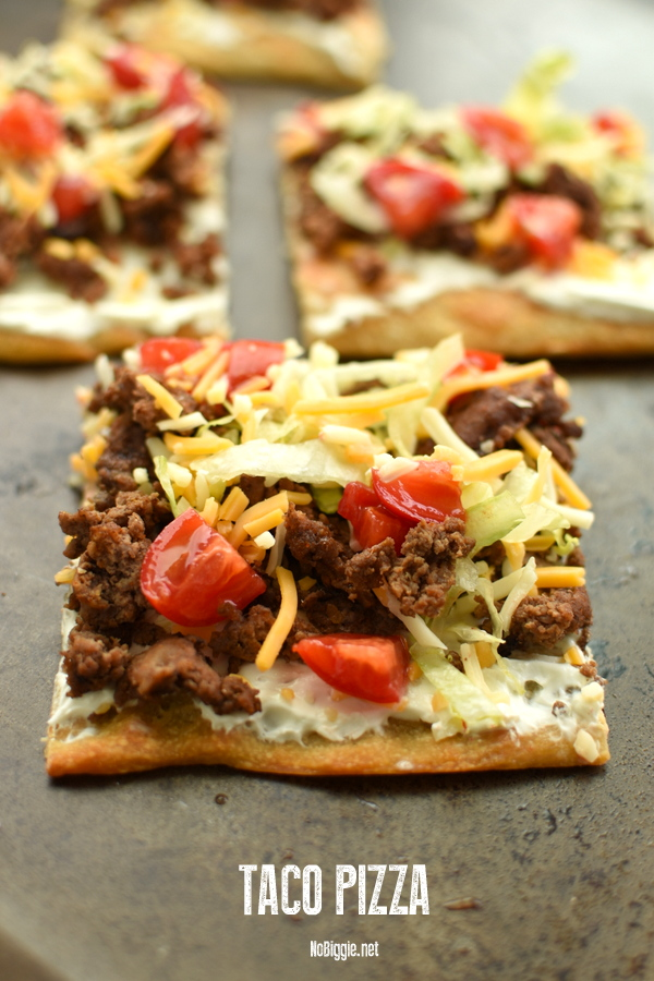 Taco Pizza - the easiest 30 minute meal to feed your family. #tacopizza #tacoTuesday #tacos #tacorecipe