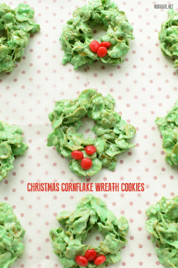 Christmas Cornflake Wreath Cookies Nobiggie