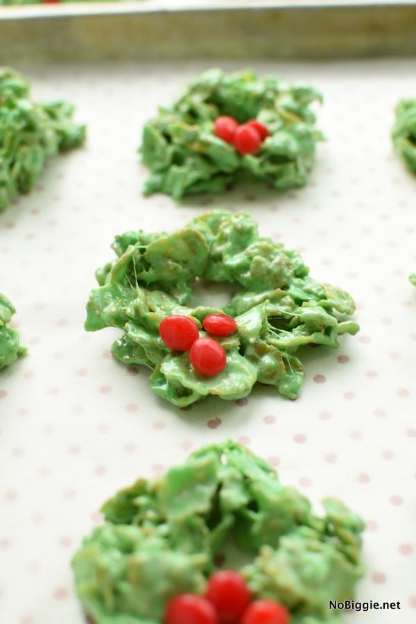 Christmas Cornflake Wreath Cookies Nobiggie