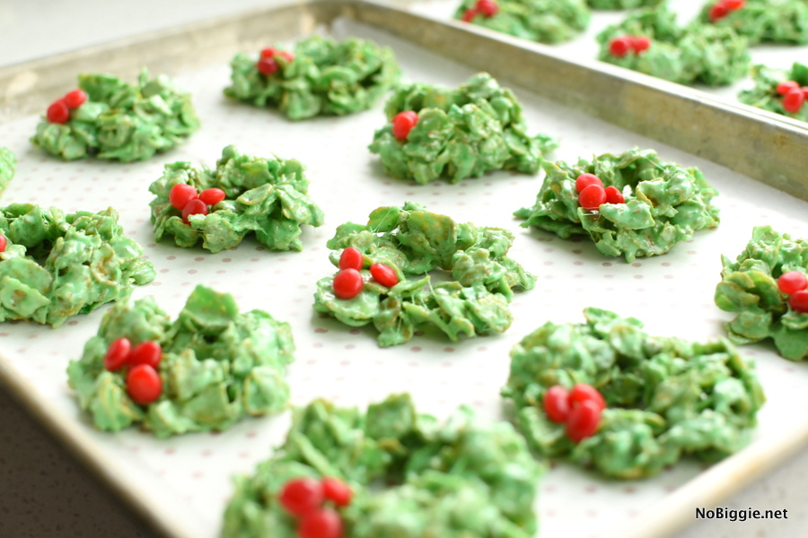 Cornflake Wreath Cookies for Christmas