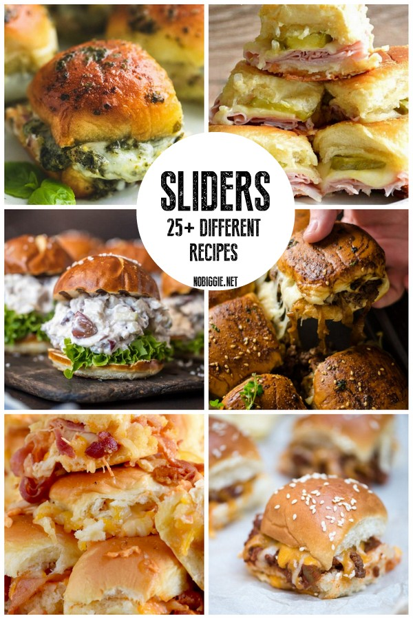 Sliders 25+ different recipes